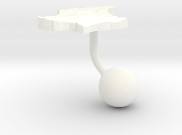 Luxembourg Terrain Cufflink - Ball 3d printed