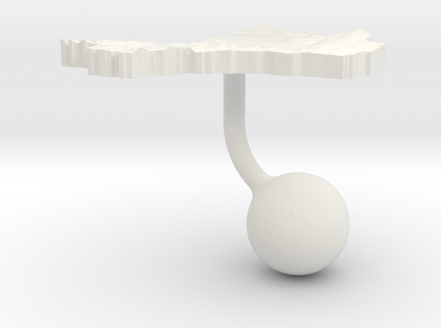 Mali Terrain Cufflink - Ball in White Natural Versatile Plastic