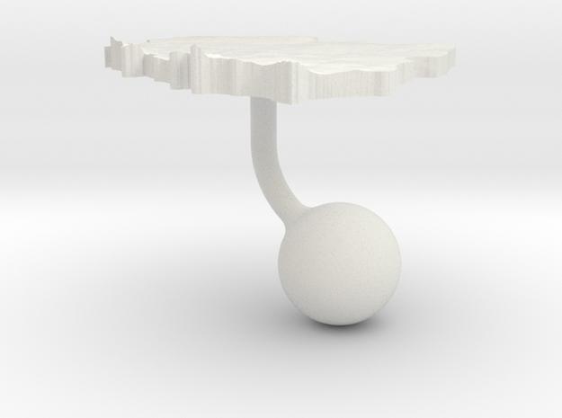Poland Terrain Cufflink - Ball in White Natural Versatile Plastic
