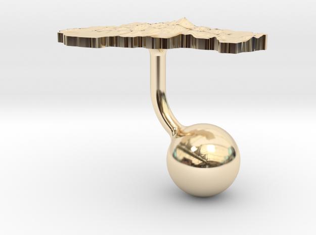 Slovakia Terrain Cufflink - Ball 3d printed