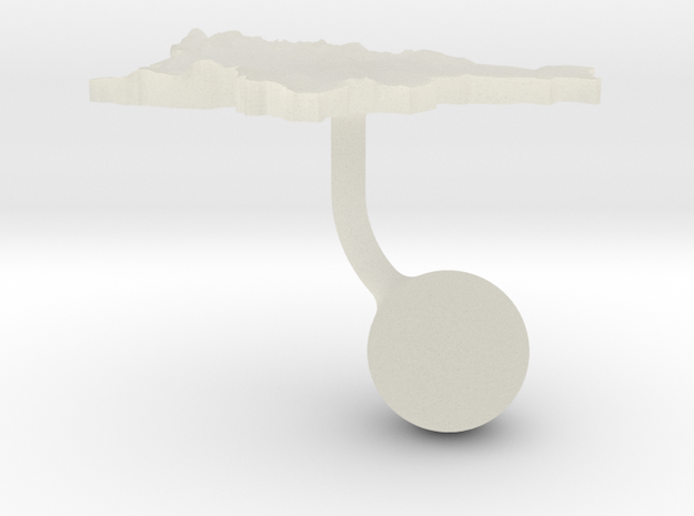 Slovenia Terrain Cufflink - Ball in Transparent Acrylic
