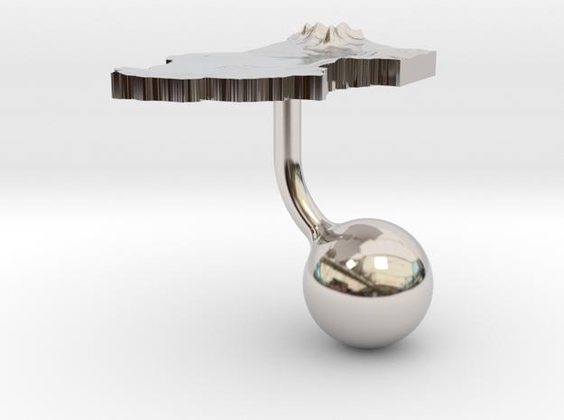 Chad Terrain Cufflink - Ball 3d printed