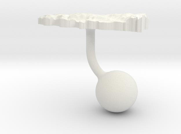 Turkey Terrain Cufflink - Ball in White Natural Versatile Plastic