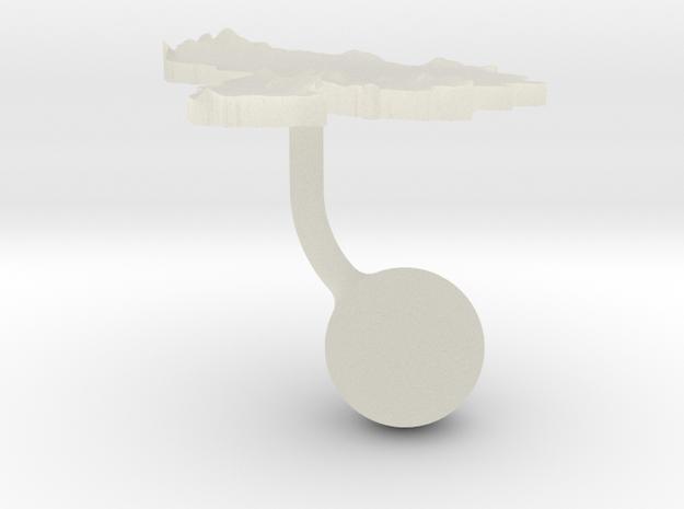 Venezuela Terrain Cufflink - Ball 3d printed