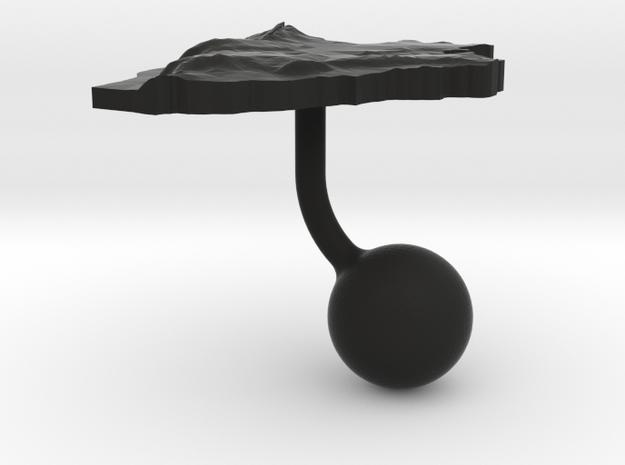 Burundi Terrain Cufflink - Ball 3d printed