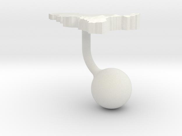 Belgium Terrain Cufflink - Ball in White Natural Versatile Plastic