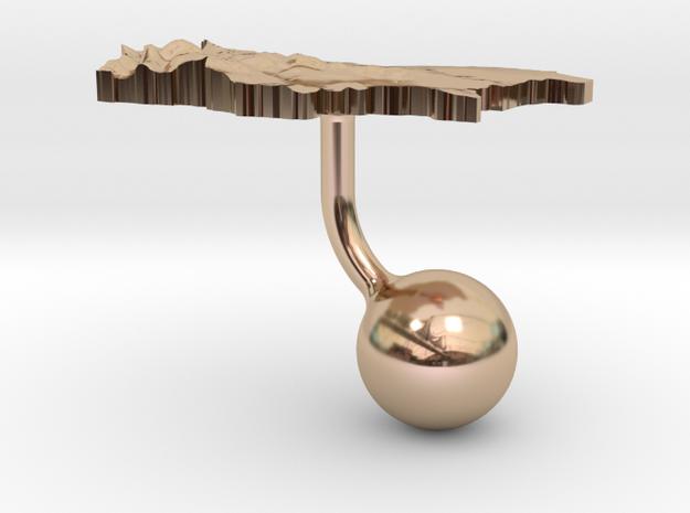 Bulgaria Terrain Cufflink - Ball 3d printed