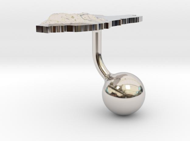 Belize Terrain Cufflink - Ball 3d printed