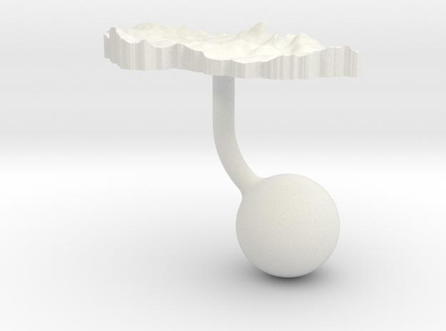 Czech Republic Terrain Cufflink - Ball in White Natural Versatile Plastic