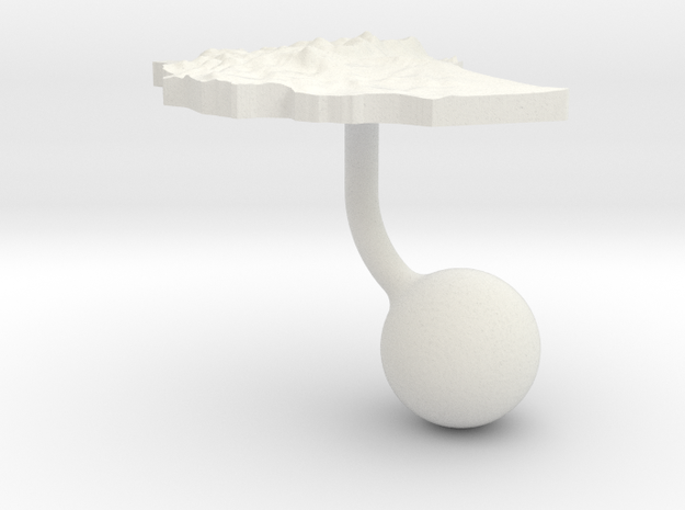 Ethiopia Terrain Cufflink - Ball in White Natural Versatile Plastic