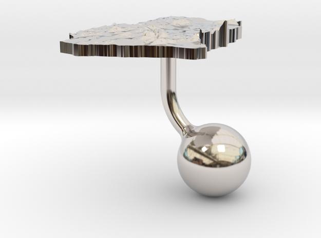 Ghana Terrain Cufflink - Ball 3d printed