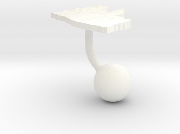 Liberia Terrain Cufflink - Ball 3d printed