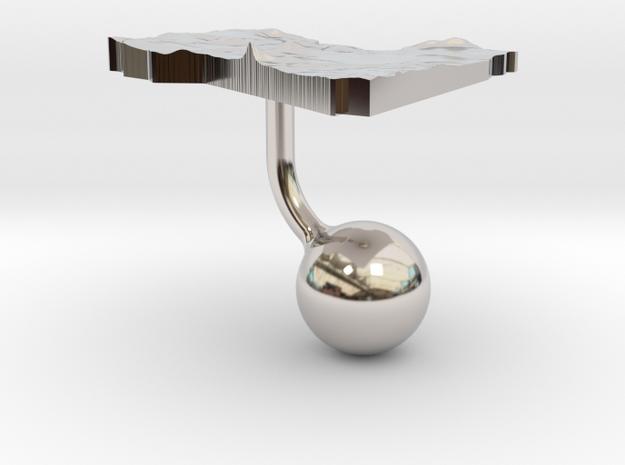 Libya Terrain Cufflink - Ball 3d printed