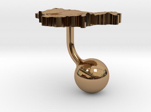 Lithuania Terrain Cufflink - Ball 3d printed