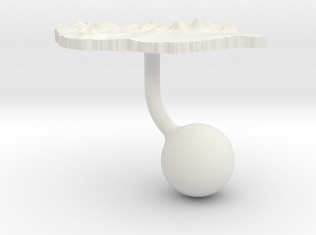 Hungary Terrain Cufflink - Ball in White Natural Versatile Plastic