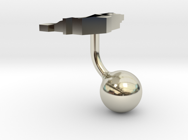 Liechtenstein Terrain Cufflink - Ball 3d printed