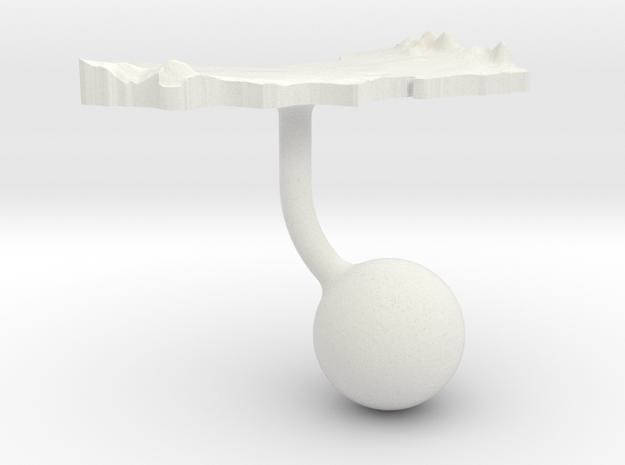 Oman Terrain Cufflink - Ball in White Natural Versatile Plastic