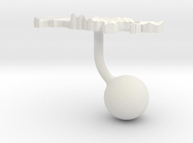 Russian Federation Terrain Cufflink - Ball in White Natural Versatile Plastic