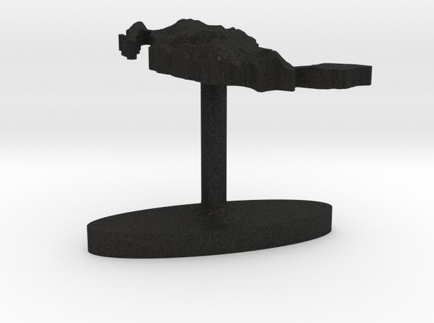 Mexico Terrain Cufflink - Flat 3d printed