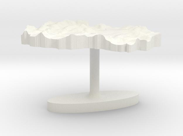 Macedonia Terrain Cufflink - Flat in White Natural Versatile Plastic
