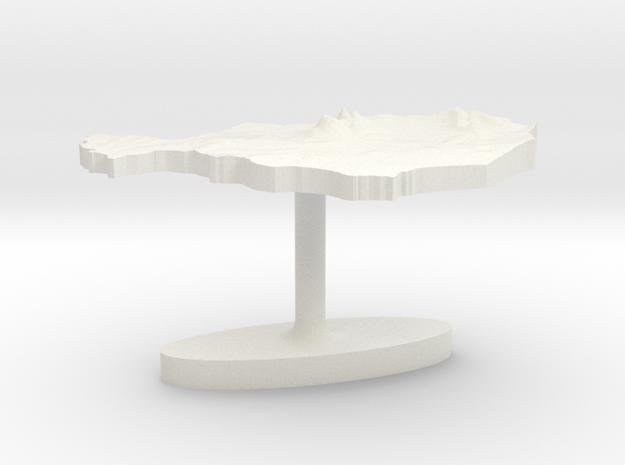 Niger Terrain Cufflink - Flat in White Natural Versatile Plastic
