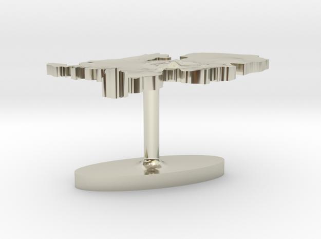 Netherlands Terrain Cufflink - Flat 3d printed