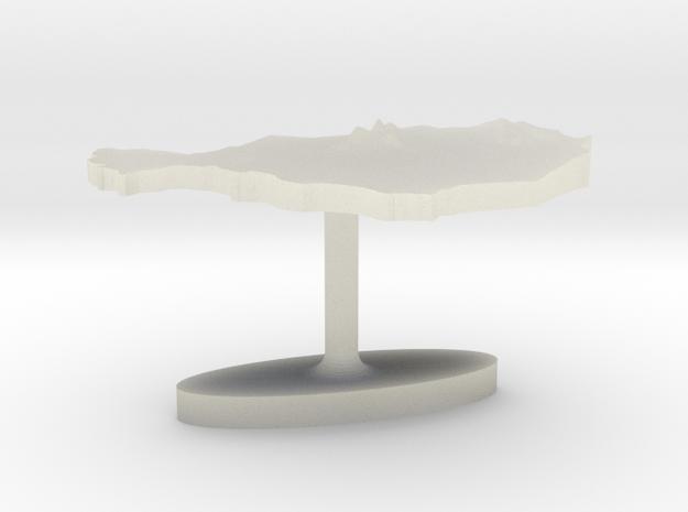 Niger Terrain Cufflink - Flat in Transparent Acrylic