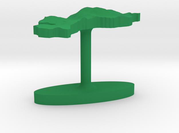 Philippines Terrain Cufflink - Flat 3d printed