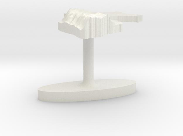 Peru Terrain Cufflink - Flat in White Natural Versatile Plastic