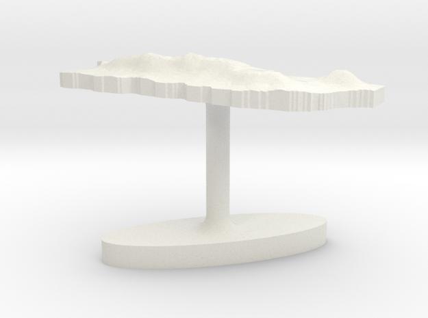 Puerto Rico Terrain Cufflink - Flat in White Natural Versatile Plastic