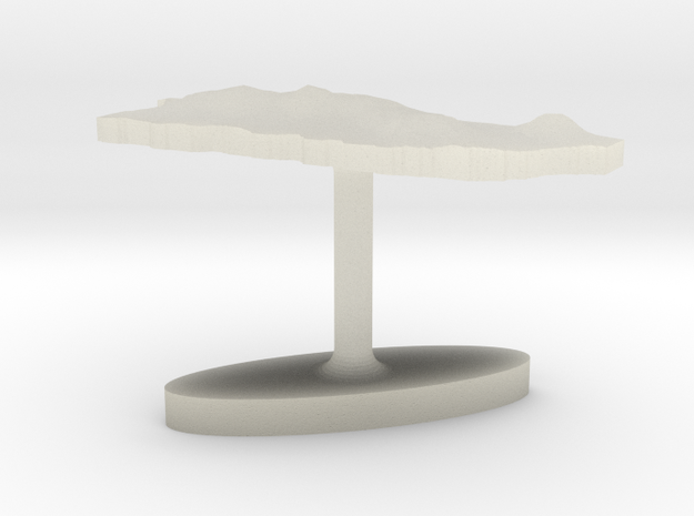 Puerto Rico Terrain Cufflink - Flat 3d printed
