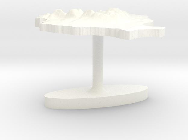 Romania Terrain Cufflink - Flat 3d printed