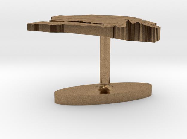 Senegal Terrain Cufflink - Flat 3d printed