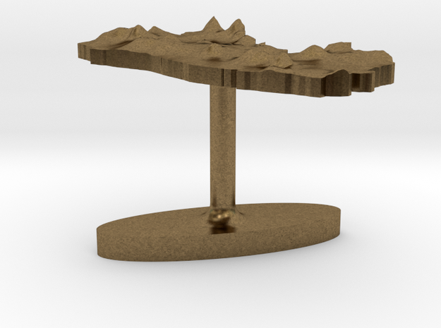 El Salvador Terrain Cufflink - Flat 3d printed