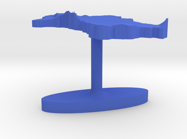 Turkmenistan Terrain Cufflink - Flat 3d printed