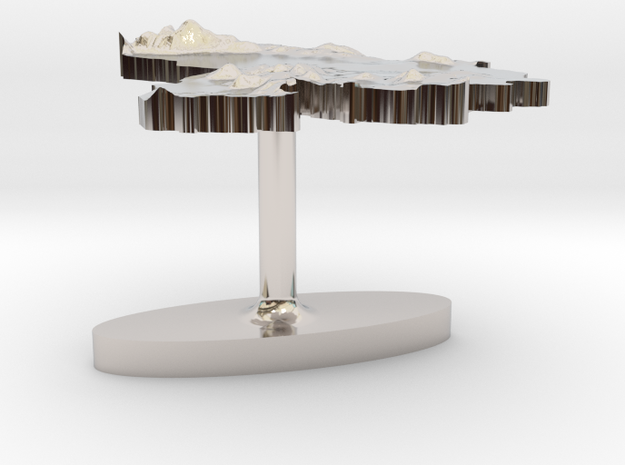 Venezuela Terrain Cufflink - Flat 3d printed