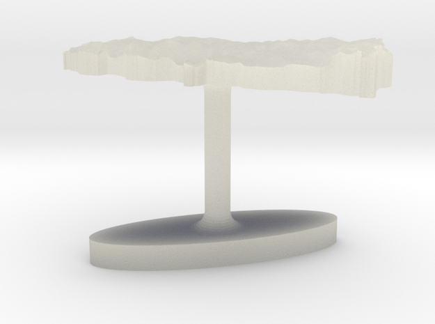 Turkey Terrain Cufflink - Flat in Transparent Acrylic