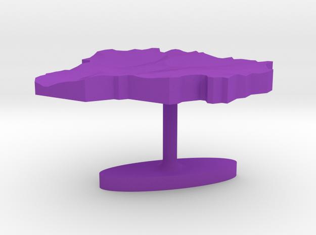 Andorra Terrain Cufflink - Flat 3d printed