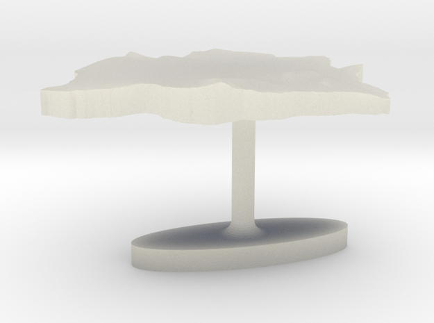 Botswana Terrain Cufflink - Flat in Transparent Acrylic