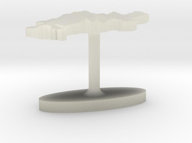 Denmark Terrain Cufflink - Flat in Transparent Acrylic