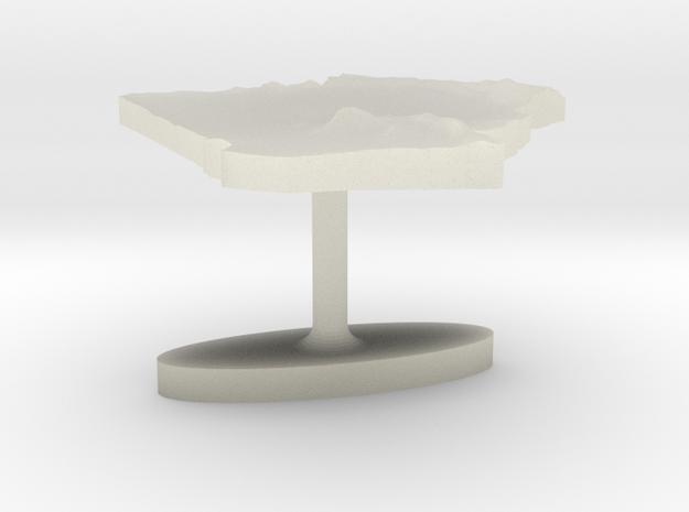Algeria Terrain Cufflink - Flat in Transparent Acrylic