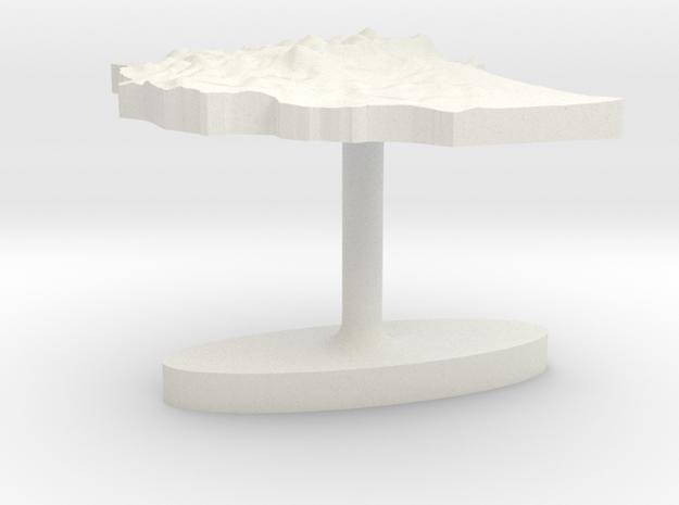 Ethiopia Terrain Cufflink - Flat in White Natural Versatile Plastic