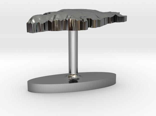 Greenland Terrain Cufflink - Flat 3d printed
