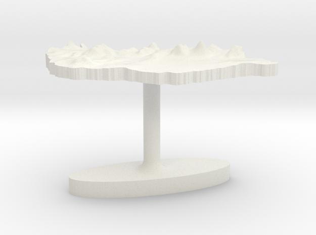 Hungary Terrain Cufflink - Flat in White Natural Versatile Plastic