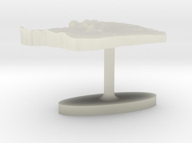French Guiana Terrain Cufflink - Flat in Transparent Acrylic