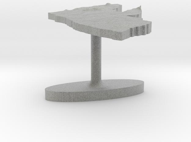 Liberia Terrain Cufflink - Flat 3d printed