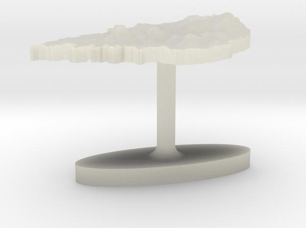 South Korea Terrain Cufflink - Flat in Transparent Acrylic