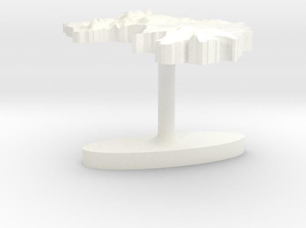 Guinea Terrain Cufflink - Flat 3d printed
