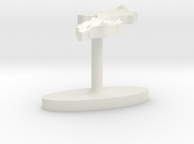 Malawi Terrain Cufflink - Flat in White Natural Versatile Plastic