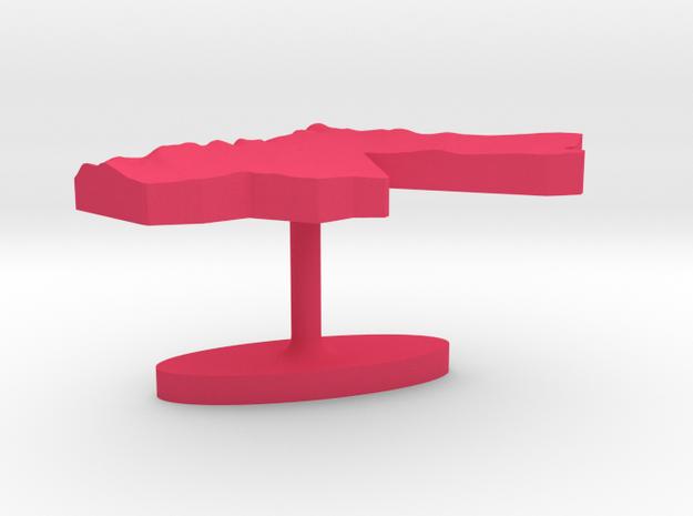 Jordan Terrain Cufflink - Flat 3d printed
